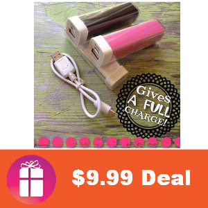 $9.99 Lipstick Battery Pack and USB Cable