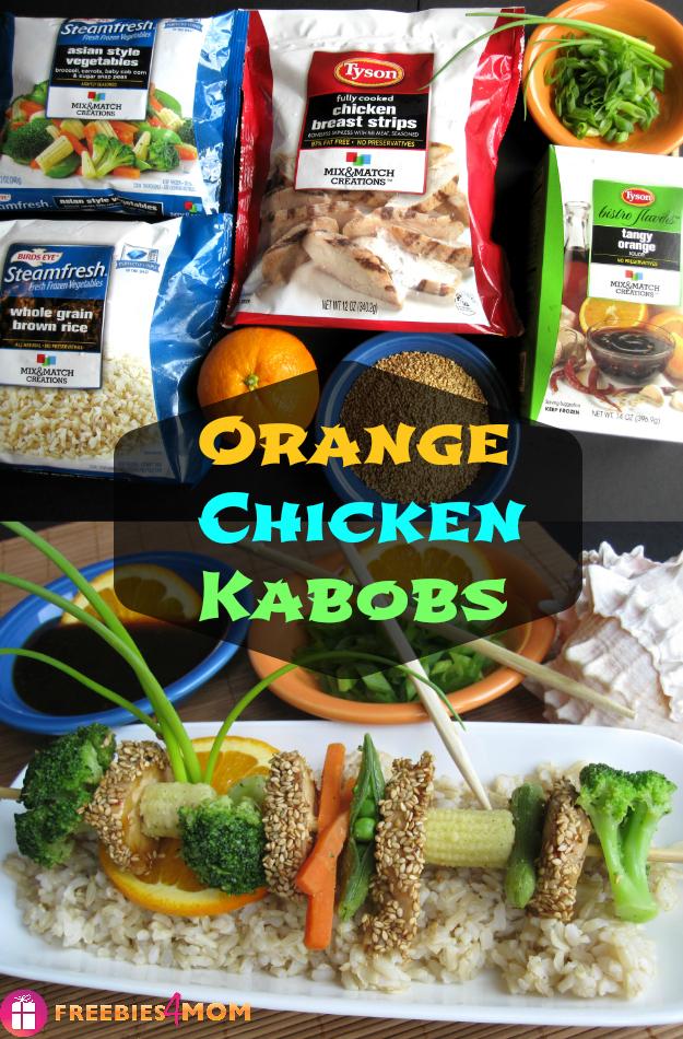 #ad Tyson Mix n Match - Orange Chicken Kabobs #MixNMatchMeals #cbias #shop