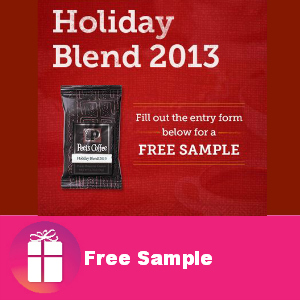 Free Sample Peet's Coffee Holiday Blend