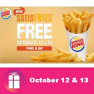 Free Satisfries at Burger King Oct. 12 & 13