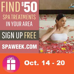 $50 Spa Treatment Deal Oct. 14-20