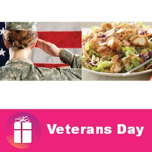 Free Entree for Veterans at Applebee's Nov. 11