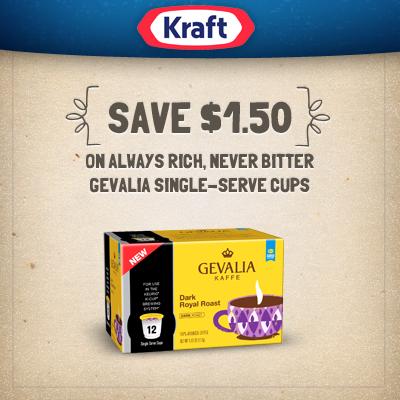Save $1.50 on Gevalia Single-Cups Printable Coupon