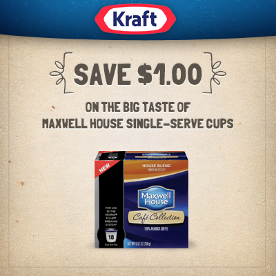 Save $1.00 on Maxwell House Single-Serve Cups