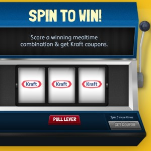 Spin to Win Kraft Coupons