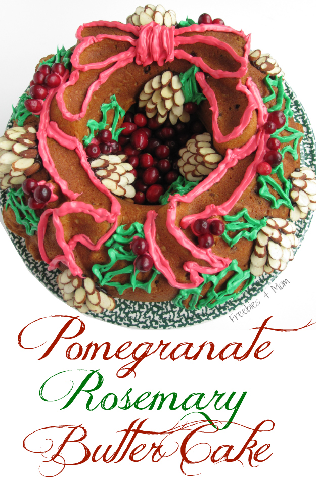 #shop Pomegranate Rosemary Butter Cake #HolidayButter #shop