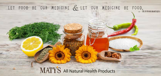 Natural Ingredients in Maty's products