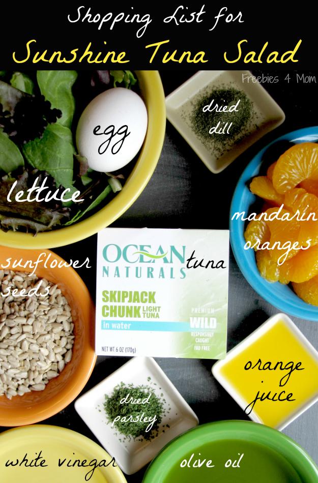 Sunshine Tuna Salad Ingredients #OceanNaturals #cbias #shop