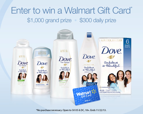 Dove Self-Esteem Project: $300 Daily Prize