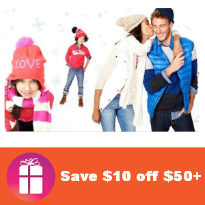 Coupon $10 off $50 at Old Navy