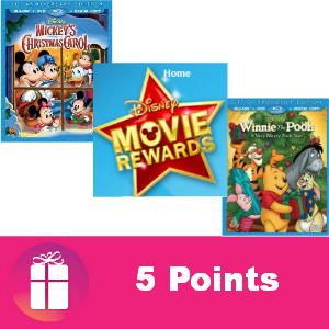Free Disney Movie Rewards 5 pts Dec. 1