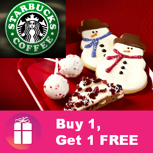Treat yourself to Starbucks: Buy 1, Get 1 FREE Food