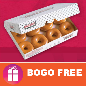 Coupon BOGO Free Dozen at Krispy Kreme