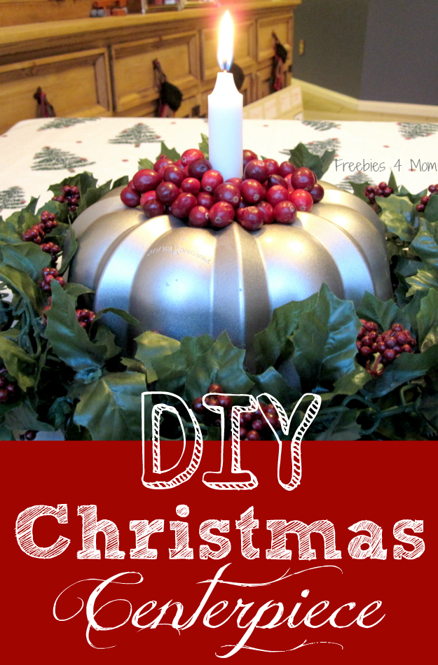 Diy christmas centerpiece bundt pan candle holder