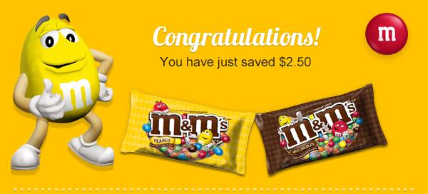 Save $2.50 on M&M's #BakingIdeas #shop