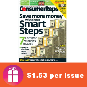 Deal $19.95 for Consumer Reports