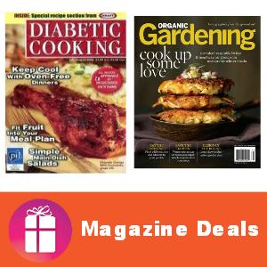 Deal Diabetic Cooking or Organic Gardening