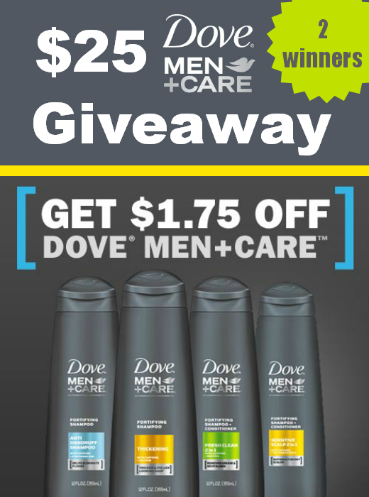 $25 Dove® Men+Care™ Giveaway