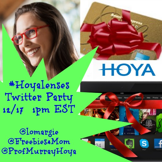 Hoya Lenses Lifestyle Twitter Party Dec. 17