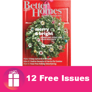 Free Year of Better Homes & Gardens