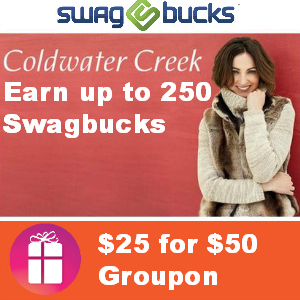 $25 for $50 Coldwater Creek Groupon