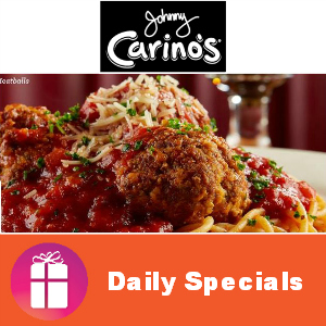 1/2 Off & 2 for 1 Specials at Johnny Carino's