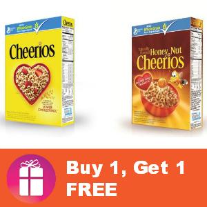 Cheerios Buy 1, Get 1 FREE