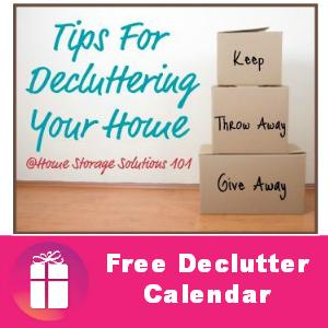 Free Printable 2014 Declutter Calendar