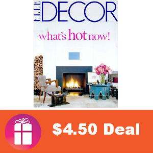 Deal $4.50 for Elle Decor Magazine
