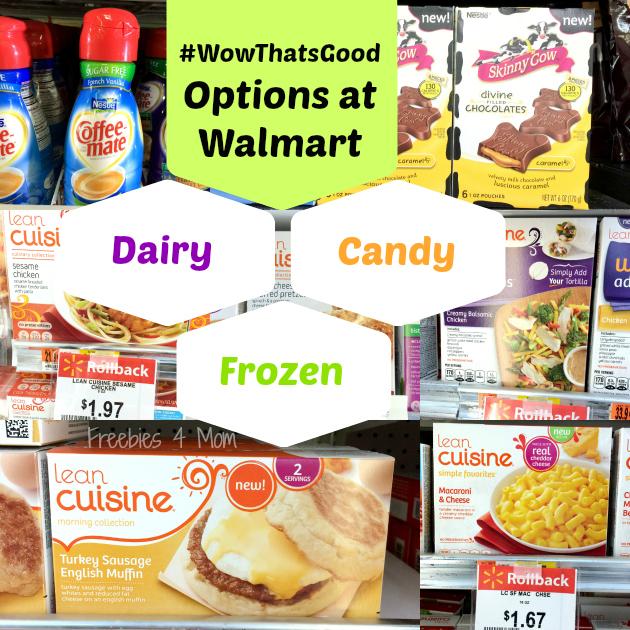 Options at Walmart #WowThatsGood #shop