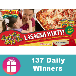 Sweeps Red Gold Lasagna Party