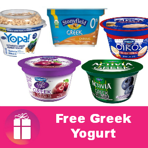 Free Greek Yogurt at Kroger