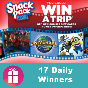 Sweeps Snack Pack On-Pack (17 Daily Winners)