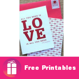 Free Valentine's Day Printables & Wallpapers