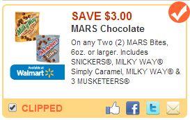 Save $3.00 on MARS Bites #EatMoreBites #shop