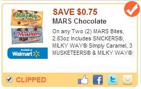 Save $0.75 on MARS Bites Coupon #EatMoreBites #shop