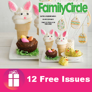 Family Circle Magazine is yours for FREE (12 issues)