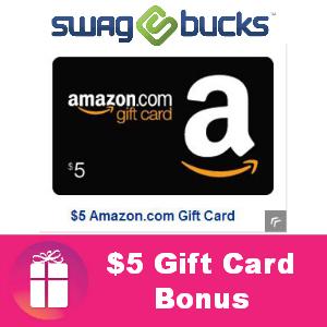 $5.00 Gift Card Bonus from Swagbucks