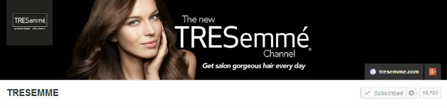TRESemme YouTube Channel