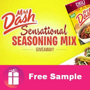 Freebie Mrs. Dash Chili Seasoning