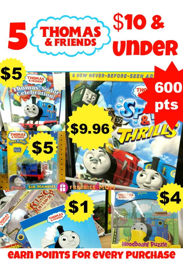 5 Thomas & Friends products at Walmart $10 & Under