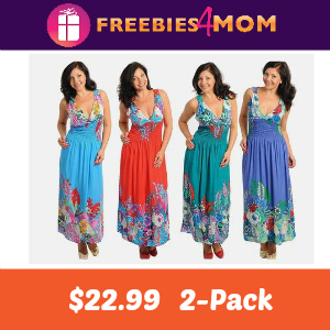 2-Pack Floral Maxi Dresses $22.99
