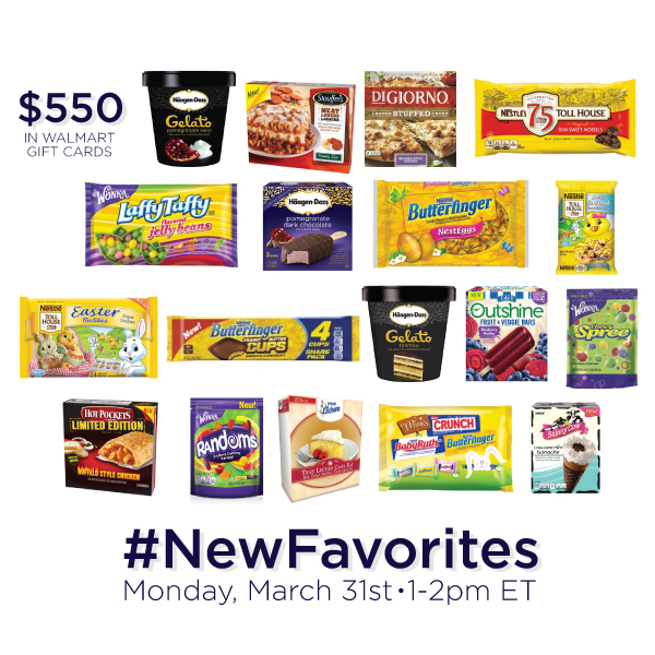 $550 in Prizes at #NewFavorites Twitter Party March 31, 2014 1-2pm ET