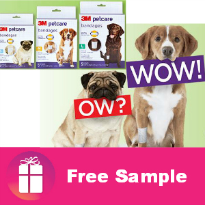 Free Sample 3M Petcare Bandages