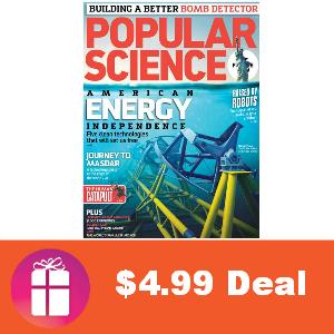 Deal $4.99 per Year Popular Science