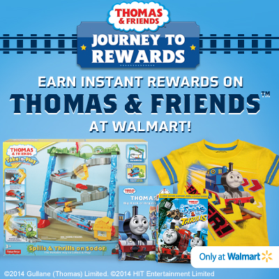 Thomas & Friends Journey to Rewards Program at Walmart