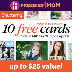 10 Free Cards at Shutterfly