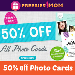 50% off Photo Cards