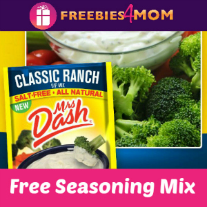 Free Mrs. Dash Classic Ranch Dip Mix
