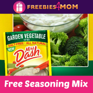 Free Garden Vegetable Dip Mix